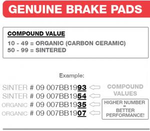 REMBLOK 07BB0306 BRAKE PADS ORGANIC GENUINE