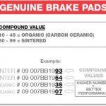 REMBLOK 07BB2607 BRAKE PADS ORGANIC GENUINE