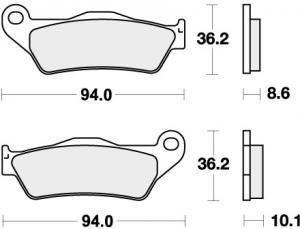 REMBLOK 742RQ BRAKE PADS ORGANIC RACING