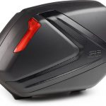 GIVI V37NN-PAIR OF BLK S.CASES WITH RED REFLECTOR..