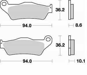 REMBLOK 794 SM1 BRAKE PADS SEMI METALLIC