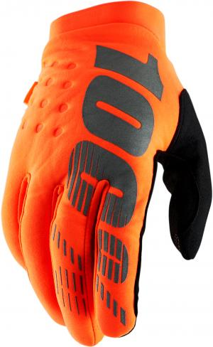 100% BRISKER 2 GLOVE FLUO ORANGE BLACK